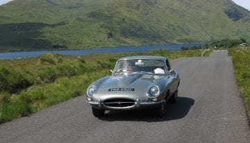 Jaguar E-type on Classic Travelling's Ireland Tour