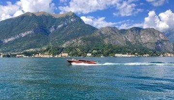 Riva boat on Lake Como