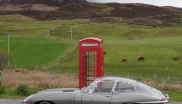 E-type Scotland phone box